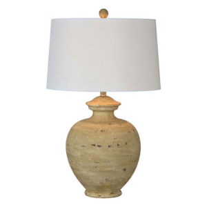 Charlotte Natural and White One-Light Table Lamp