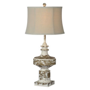 Charlotte Antique White One-Light Table Lamp