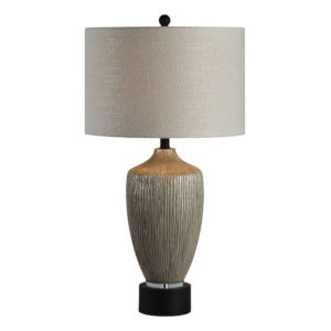 Charlotte Dusky Silver and Black One-Light Table Lamp