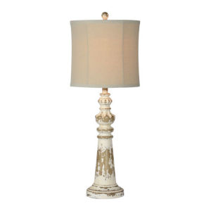 Charlotte Distressed White 32-Inch One-Light Table Lamp