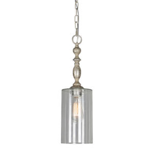Iris Dusky Silver One-Light Mini Pendant