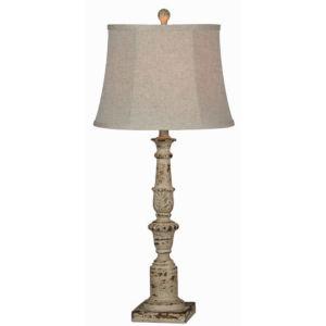 Charlotte Distressed Cream One-Light Buffet Lamp