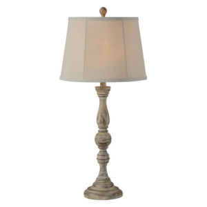 Charlotte Distressed Wood 30.5-Inch One-Light Buffet Lamp