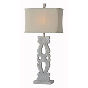Charlotte Distressed Gray One-Light Table Lamp