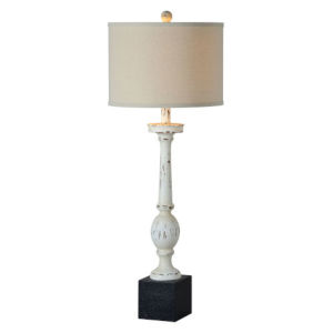 Charlotte Black and Antique White One-Light Table Lamp