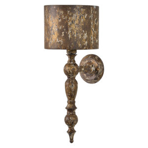 Partridge Weathered Brown with Gold Accents One-Light Wall Sconce