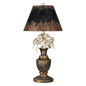 Partridge Gold and Black One-Light Table Lamp