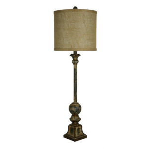 Partridge Forest Green and Gold One-Light Buffet Lamp