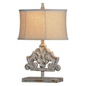 Partridge Washed Gray One-Light Table Lamp