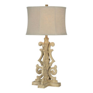 Partridge Rustic White One-Light Table Lamp
