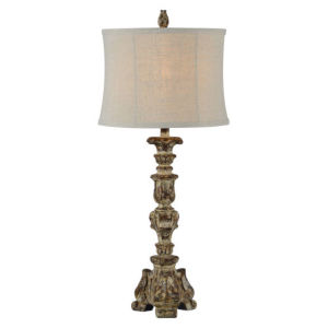 Partridge Distressed Brown One-Light Table Lamp