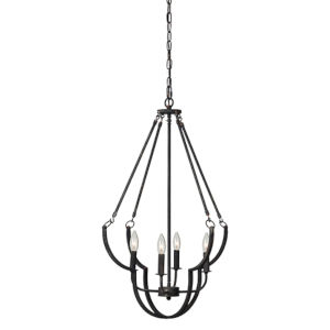 Jackson Soft Black Four-Light Chandelier