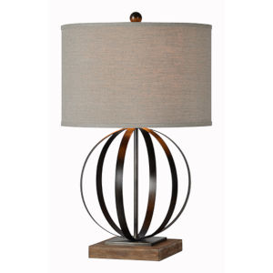 Jackson Driftwood and Bronze One-Light Table Lamp