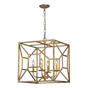 Madison Antique Gold Four-Light Pendant