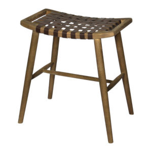 Cora Warm Brown and Black 24-Inch Stool