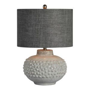 Essex Gray and White One-Light Table Lamp