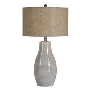 Essex Glazed White One-Light Table Lamp