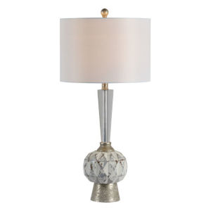 Essex Dusky Silver and White One-Light Table Lamp