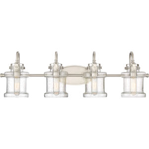Selby Brushed Nickel Four-Light Bath Vanity