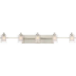 Selby Brushed Nickel Five-Light LED Bath Vanity