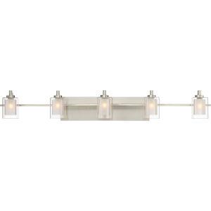 Selby Brushed Nickel Five-Light LED Bath Vanity