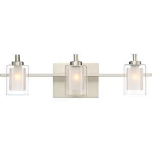 Selby Brushed Nickel Three-Light LED Bath Vanity