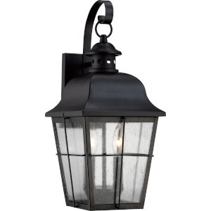 Bryant Black Two-Light Outdoor Wall Fixture