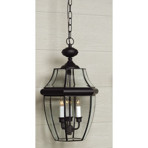 Bryant Black Three-Light Outdoor Pendant