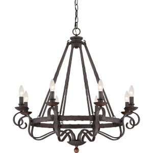 Wellington Black Eight-Light Chandelier