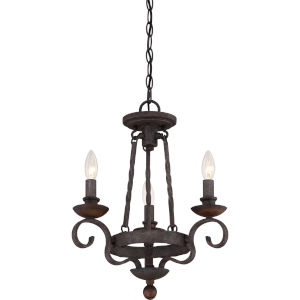 Wellington Black Three-Light Chandelier