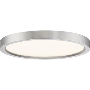 Uptown Brushed Nickel 11-Inch LED Flush Mount
