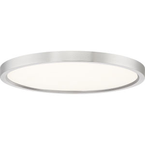 Uptown Brushed Nickel 15-Inch LED Flush Mount