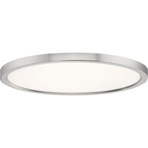 Uptown Brushed Nickel 20-Inch LED Flush Mount