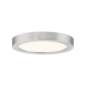 Uptown Brushed Nickel Eight-Inch LED Flush Mount