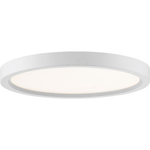 Uptown White 11-Inch LED Flush Mount