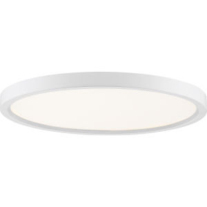 Uptown White 15-Inch LED Flush Mount