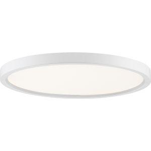 Uptown White 15-Inch LED Flush Mount