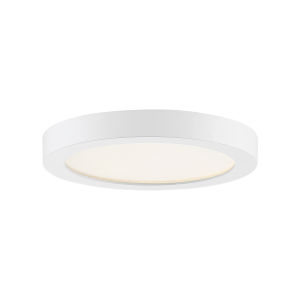 Uptown White Eight-Inch LED Flush Mount