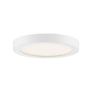 Uptown White Eight-Inch LED Flush Mount