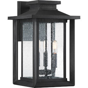 Bryant Black Three-Light Outdoor Wall Sconce