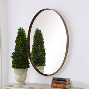 Linden Gold Oval Wall Mirror
