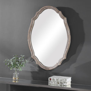 Wellington Brown Oval Wall Mirror
