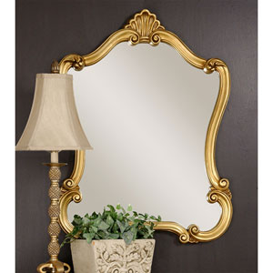 Vivian Gold Framed Wall Mirror