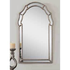 Evelyn Silver Arched Framed Wall Mirror