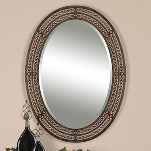 Afton Oil Rubbed Bronze Oval Framed Wall Mirror