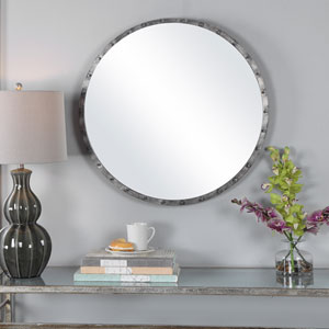 Fulton Silver Studded Wall Mirror