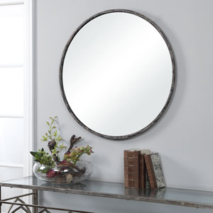 Linden Silver Circle Wall Mirror
