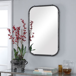 Linden Silver Decorative Ring Rectangular Wall Mirror