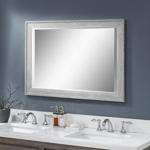 Evelyn Distressed Wood Rectangular Wall Mirror