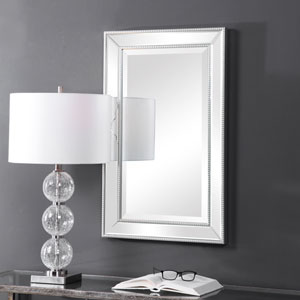 Monroe Silver Framed Rectangular Wall Mirror